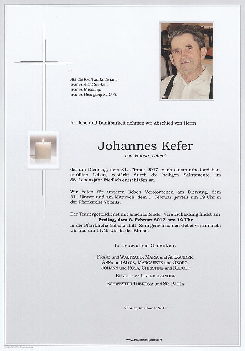 Parte Johannes Kefer