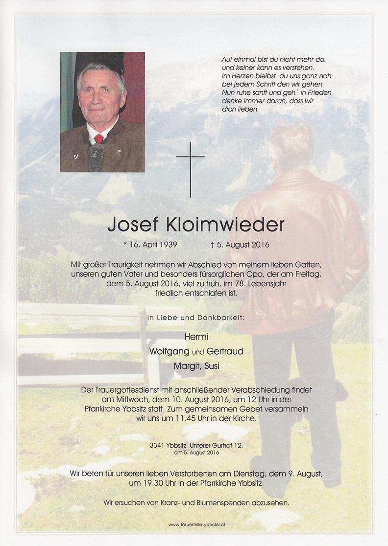 Parte Josef Kloimwieder