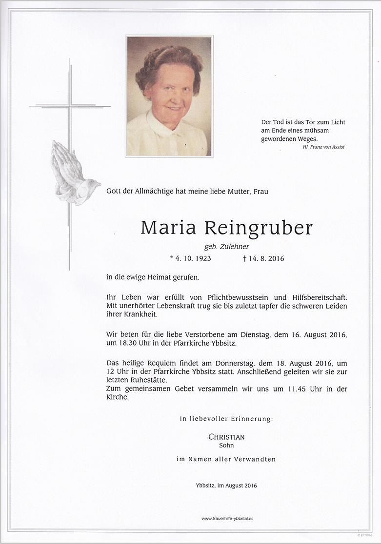Parte Maria Reingruber
