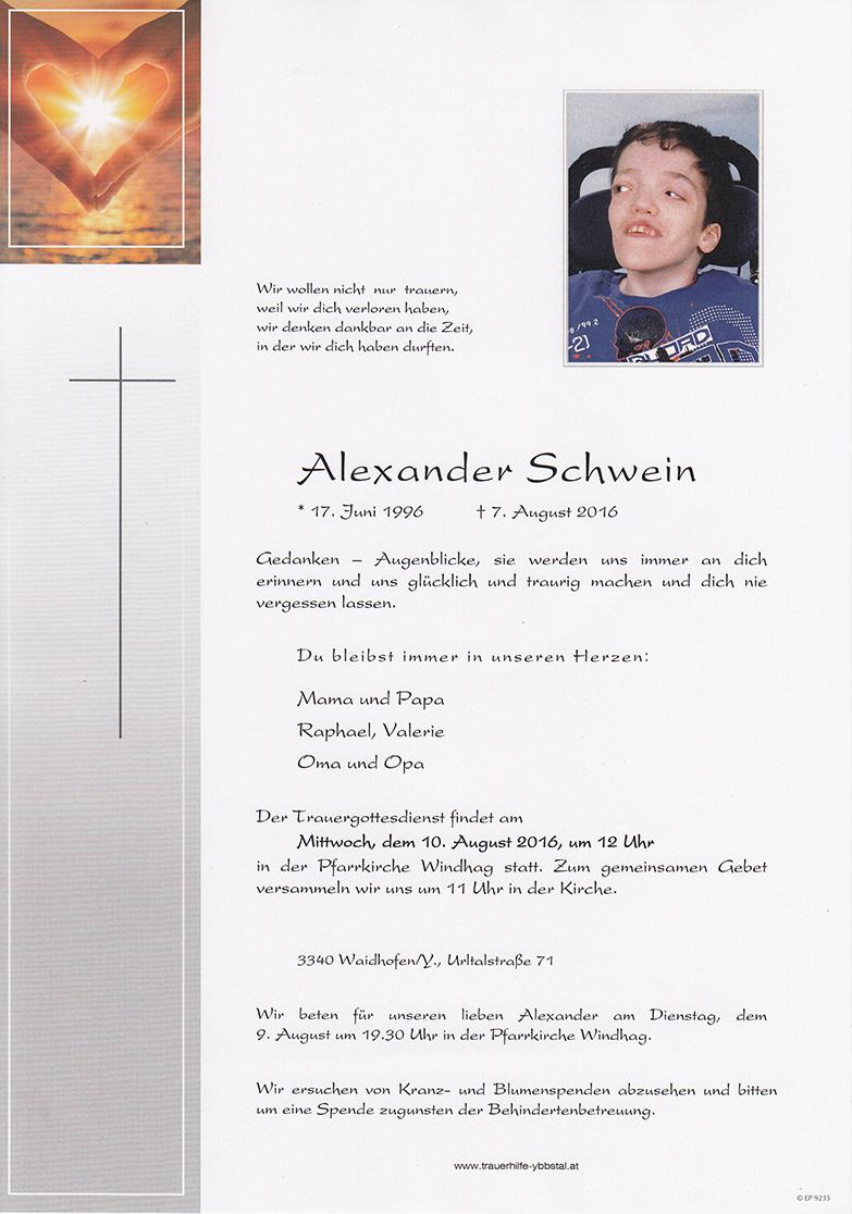 Parte Alexander Schwein