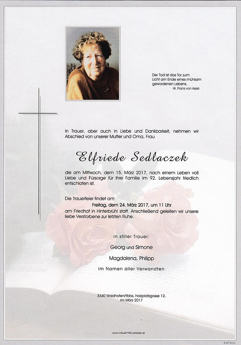 Parte Elfriede Sedlaczek