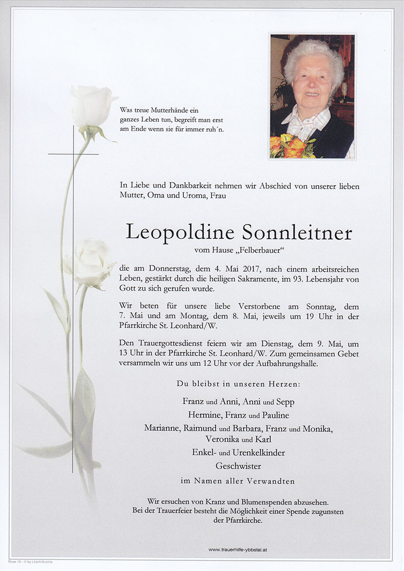 Parte Leopoldine Sonnleitner