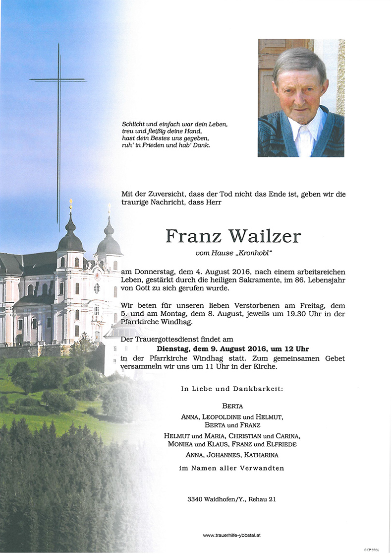 Parte Franz Wailzer