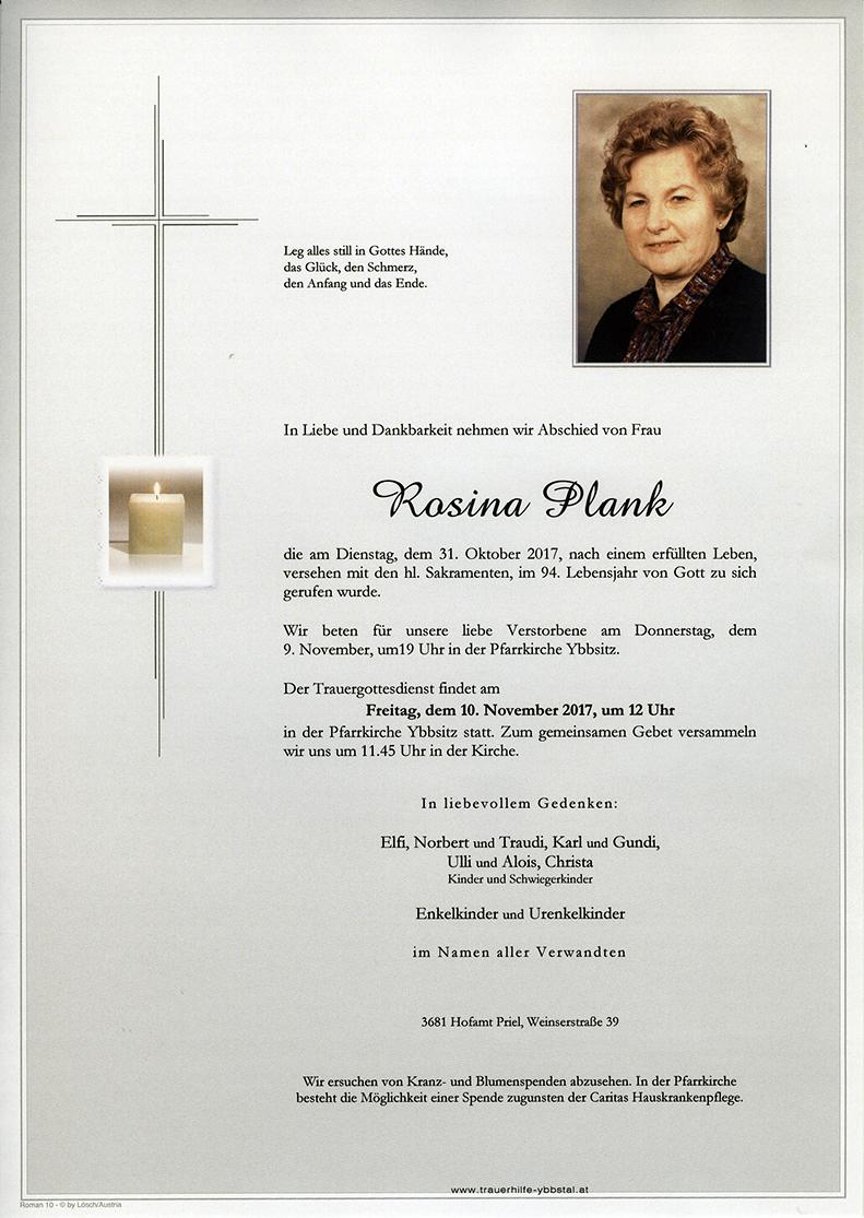 Parte Rosina Plank