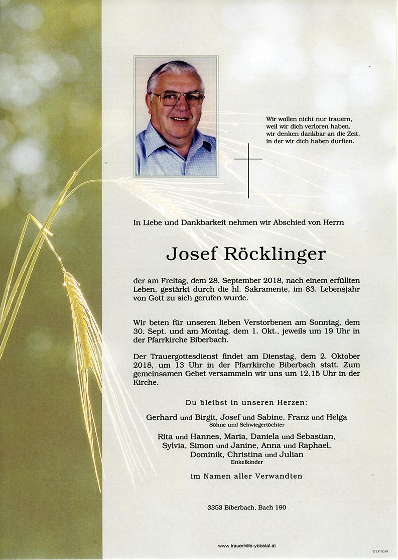 Parte Josef Röcklinger