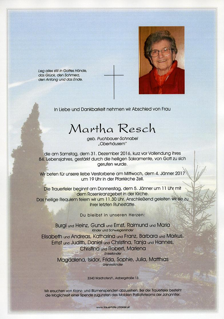 Parte Martha Resch