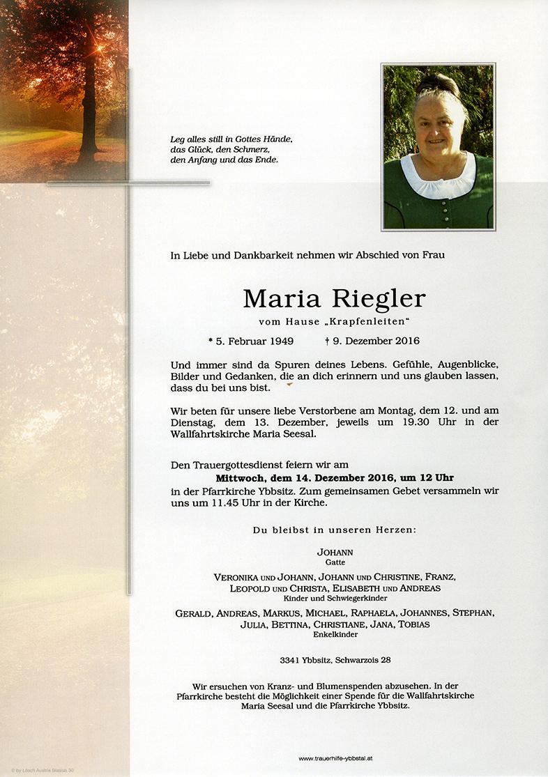 Parte Maria Riegler