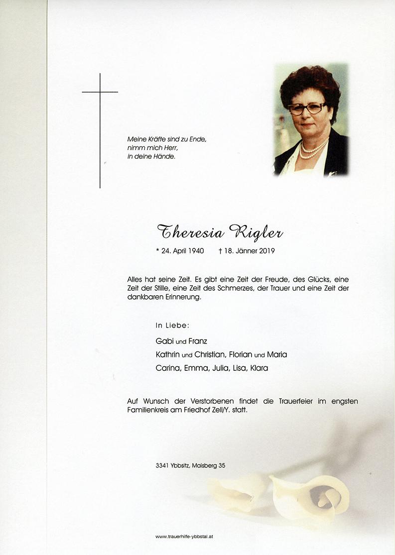 Parte Theresia Rigler