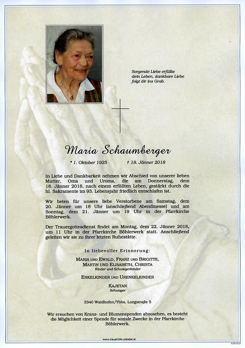 Parte Maria Schaumberger