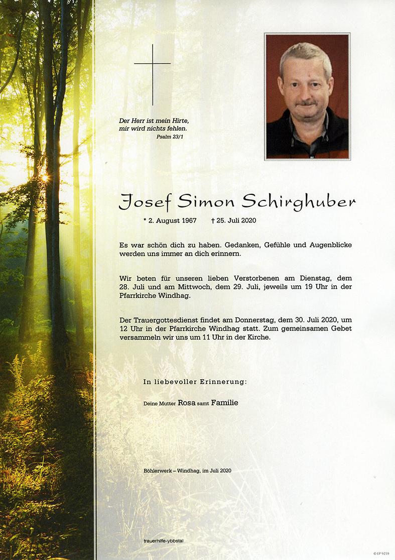 Parte Josef Simon Schirghuber