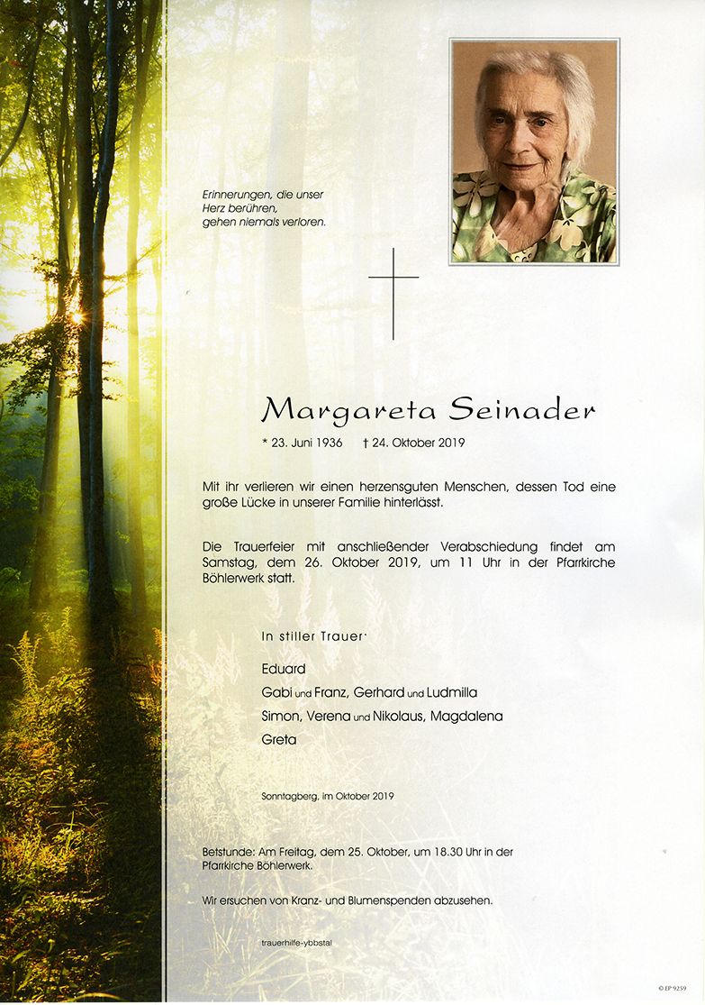 Parte Margareta Seinader