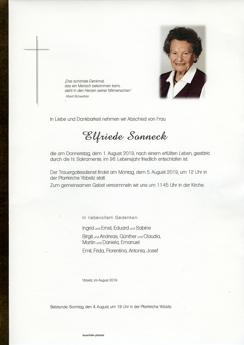 Parte Elfriede Sonneck