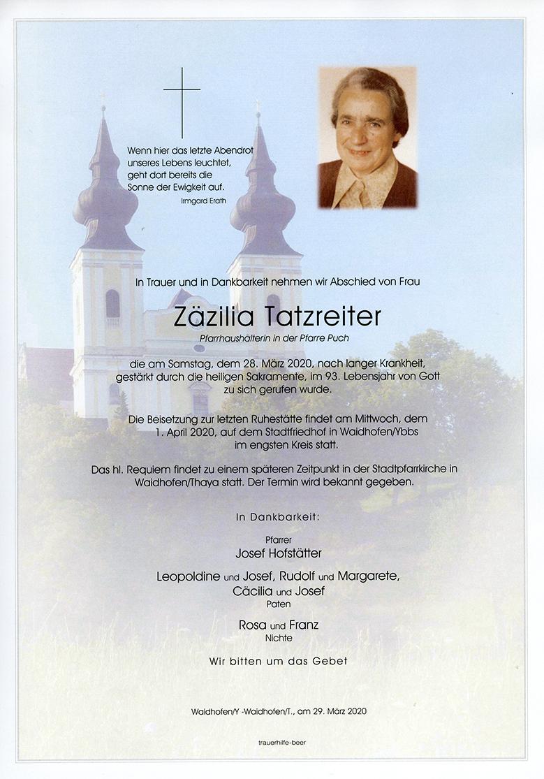 Parte Zäzilia Tatzreiter