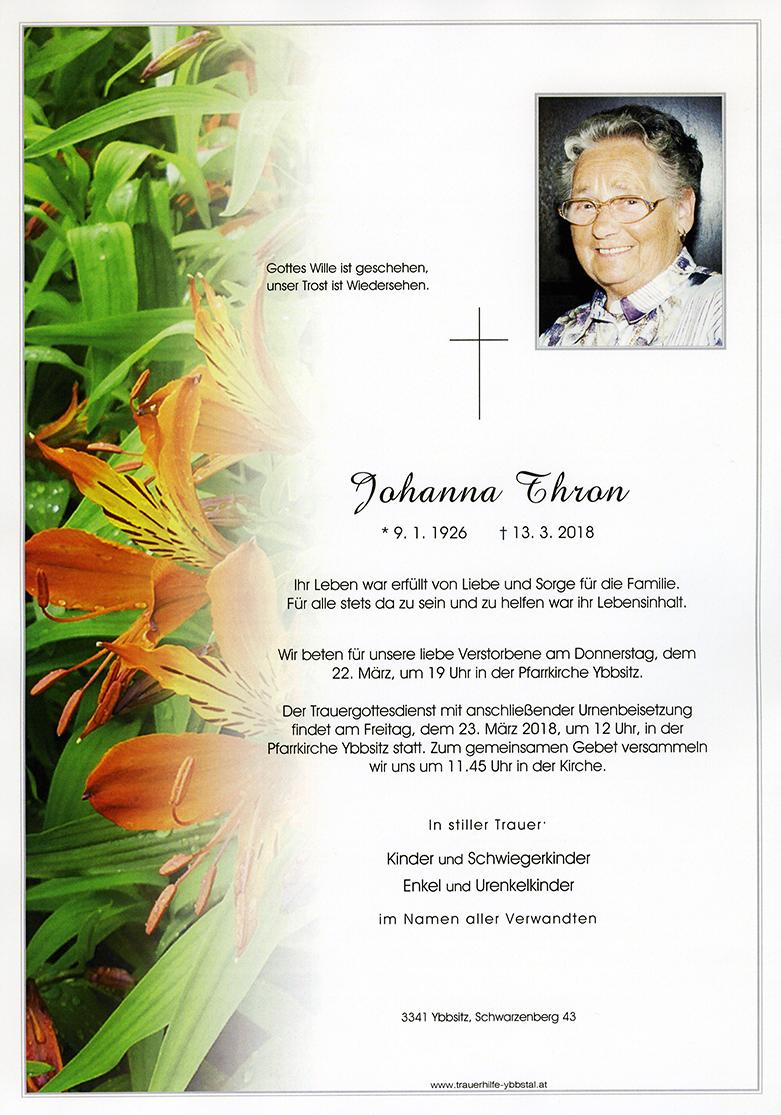 Parte Johanna Thron