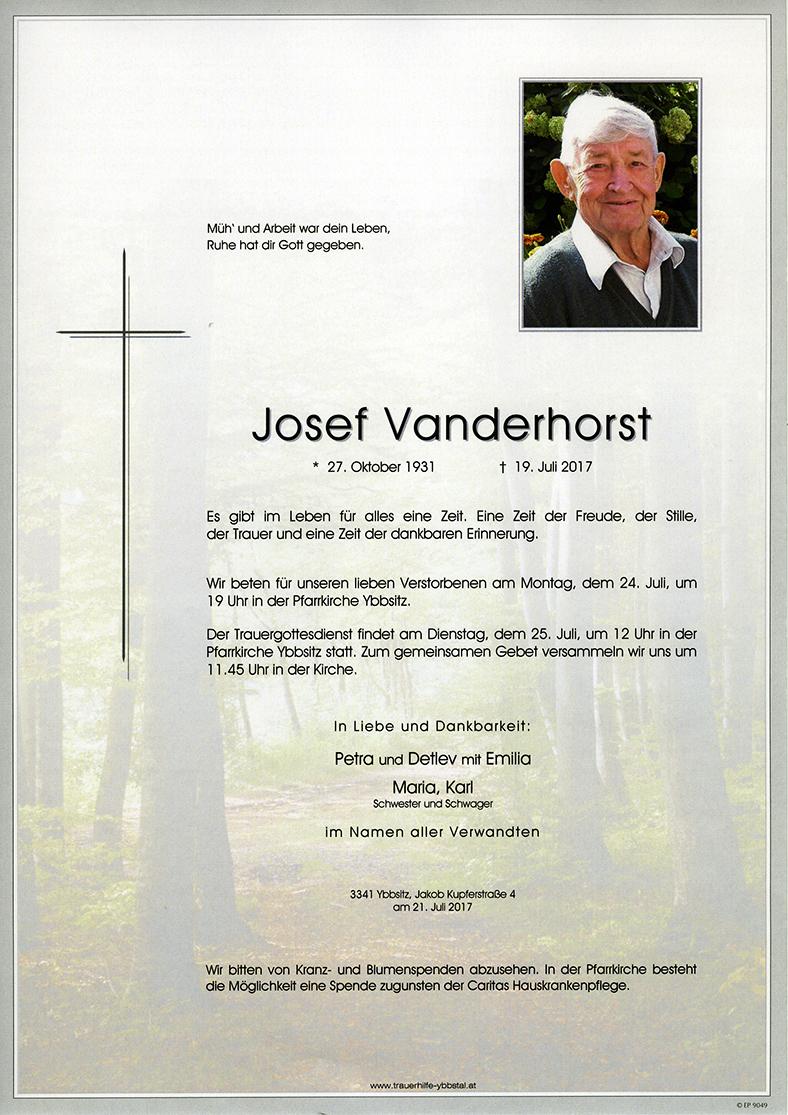 Parte Josef Vanderhorst