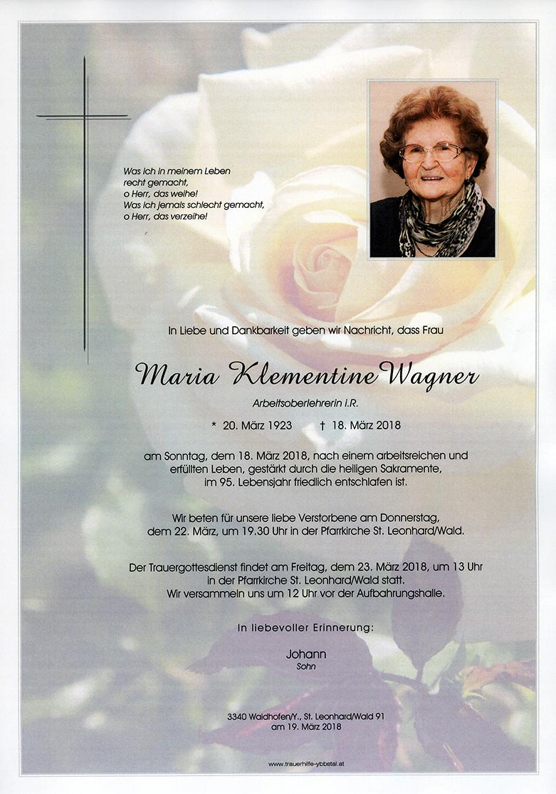 Parte Maria Klementine Wagner