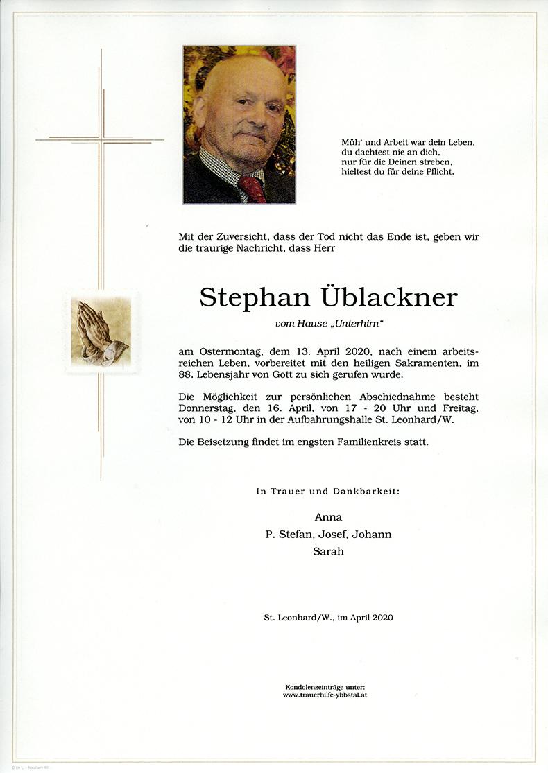 Parte Stephan Üblackner